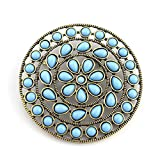LookLove Turquoise Pendant Womens Boho Jewelry Brooch or Enhancer to Wear on your Favorite Necklace