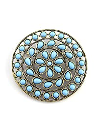 Turquoise Pendant Womens Boho Jewelry Brooch or Enhancer to Wear on your Favorite Necklace