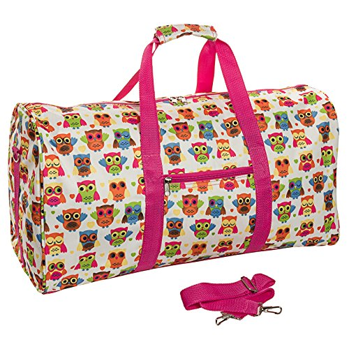 22 Carry On Duffel Bag White Owl