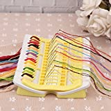Pueri Embroidery Floss Organizer 50 Positions Sewing Needle Pins Holder Cross Stitch Kit Embroidery Thread Project Dedicated Tool DIY Sewing Tools (jelly yellow)