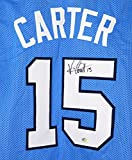 Vince Carter North Carolina Tar Heels Signed Autographed Blue #15 Custom Jersey