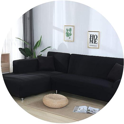 Funda de sofá elástica en Forma de L, Color Azul, para Sala ...