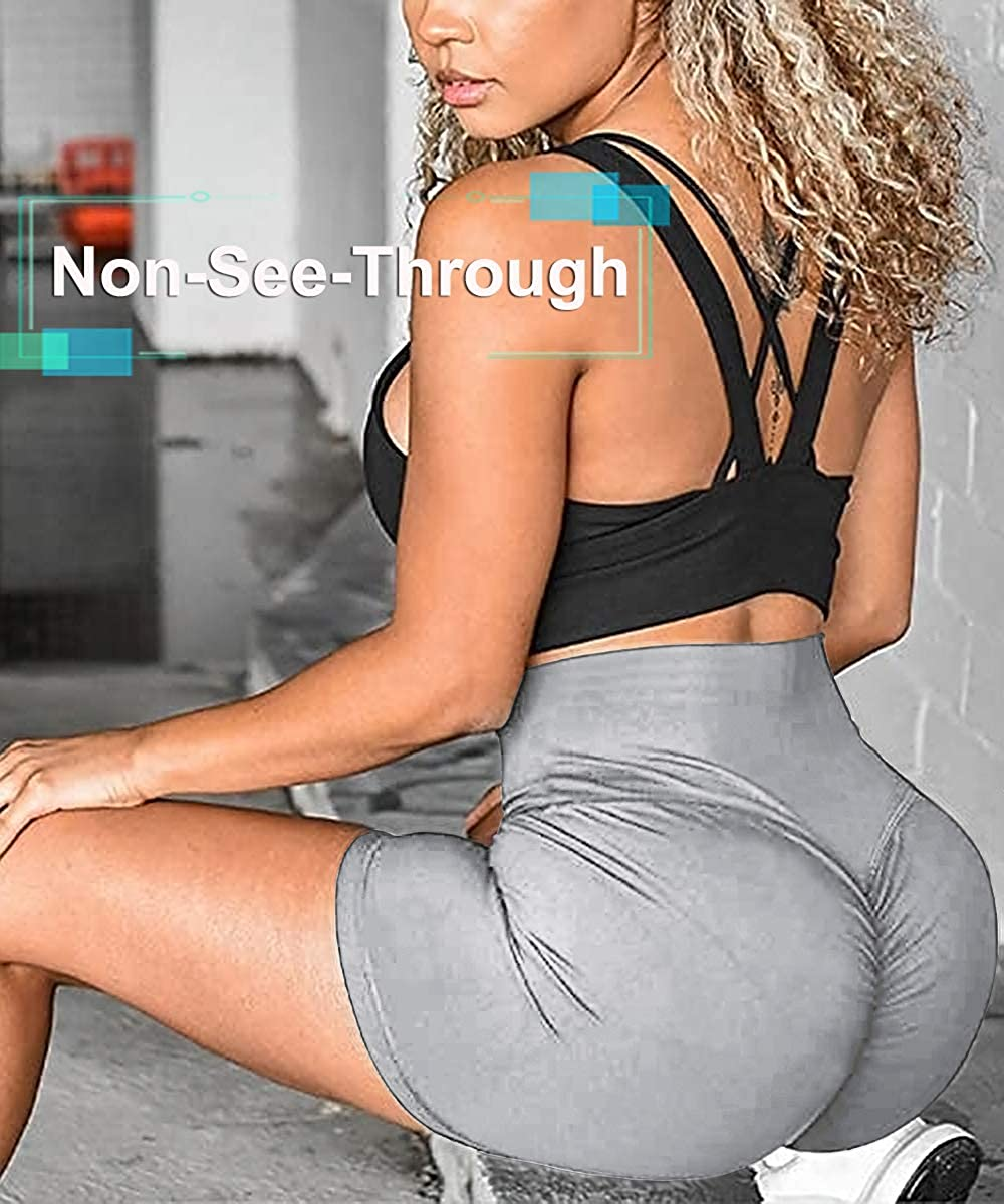Yoga Shorts for Women Ruched Booty Gym Workout High Waist Shorts Butt Lifting Hot Pants