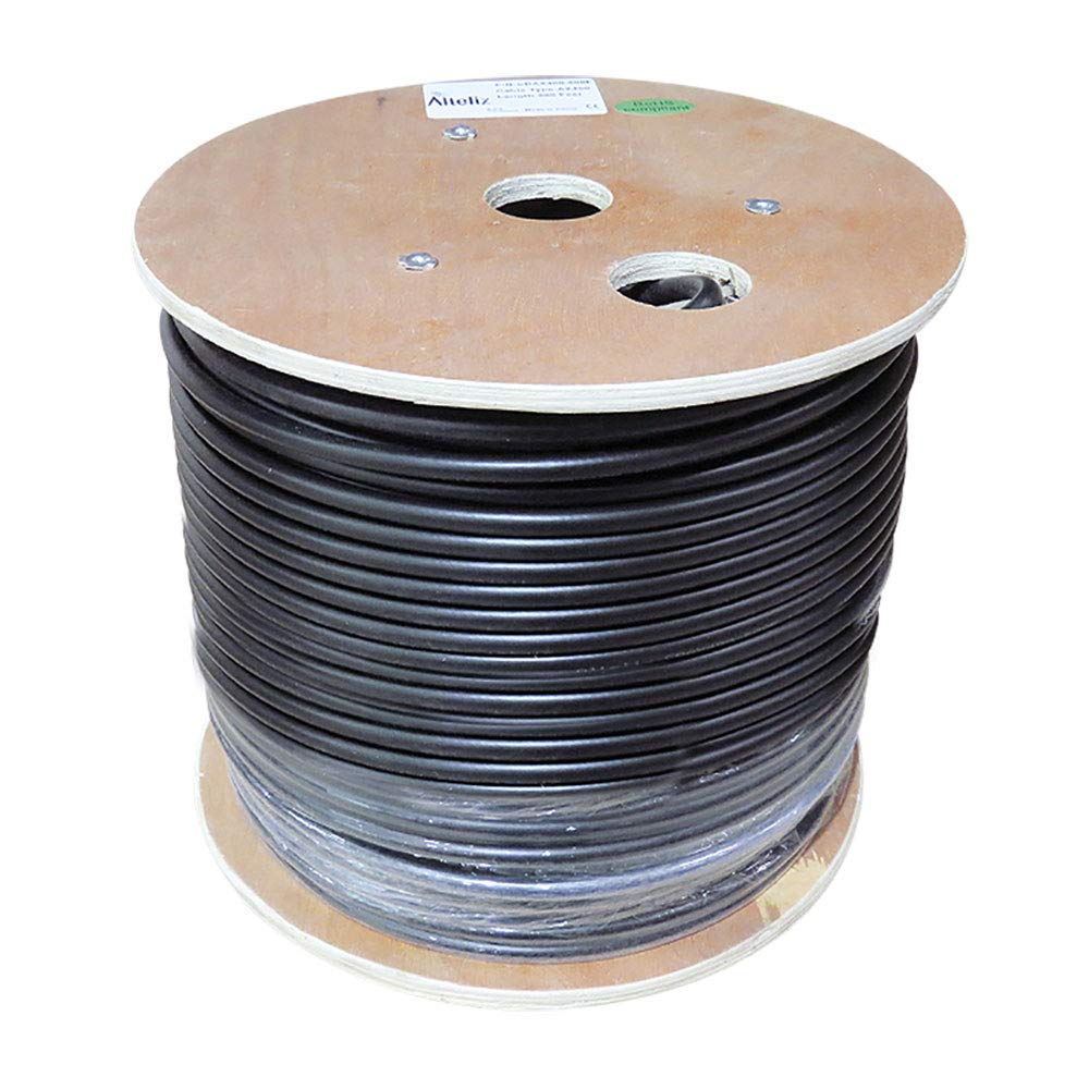 Altelix AX400 50 Ohm Low Loss Cable Double Shielded 400 Type Bulk 500 Feet on Wooden Reel by Altelix
