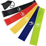 Elimoons Resistance Bands Set of 5,Men and Women Skin Friendly Resistance Fitness Exercise Loop Bands with 5 Strength…