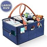 YOUTHINK Bebé Pañales Caddy Cesta de Almacenamiento Bolsa Plegable Organizador Fieltro con 5 Separador Desmontable y 10…