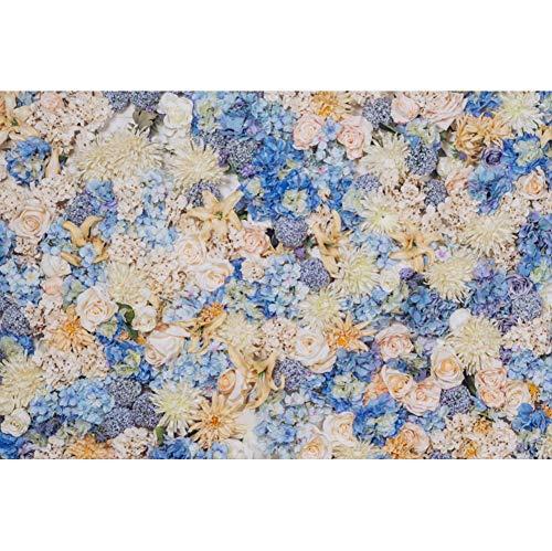 (Laeacco Colorful Flowers Backdrop 5x3ft Wedding Vinyl Photography Background Blossom Lavender Hydrangea Blue Pink Color Flowers Adults Woman Children Girls Party Studio Photo Props Portraits Shoot)