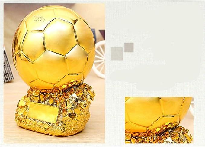 Trofeo de Oro balón de fútbol Partido de Resina Taza de Resina ...