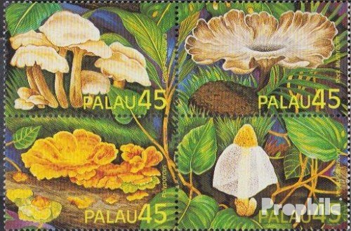 Palau-Islands 269-272 block of four (complete.issue.) 1989 Mushrooms (Stamps for collectors) (1989 Mushrooms)