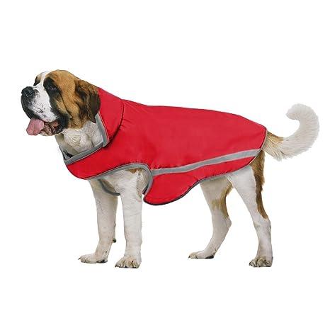TFENG Impermeable para Perros Abrigo Reflectante en Pilas Funda para Perros Chaqueta de Invierno 3 Colores