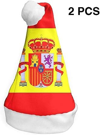 Bandera española Sombrero de Santa de Navidad Sombrero de Fiesta de Navidad Decoración de Navidad para Adultos y niños 2 PCS S: Amazon.es: Juguetes y juegos