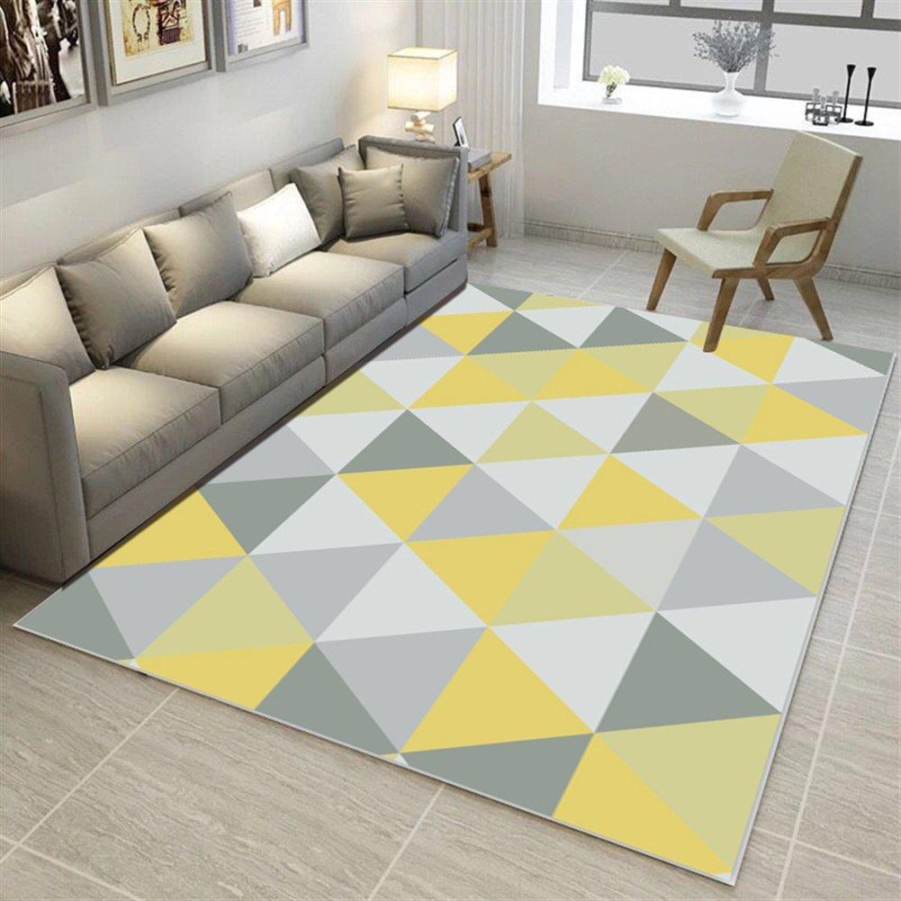 Ommda Teppiche Wohnzimmer Modern Digitales Geometrie Teppich Farbeful Kurzflor Kurzflor Kurzflor Antirutsch Abwaschbar 140x200cm 9mm B07F8TXVXF Teppiche 35cd87