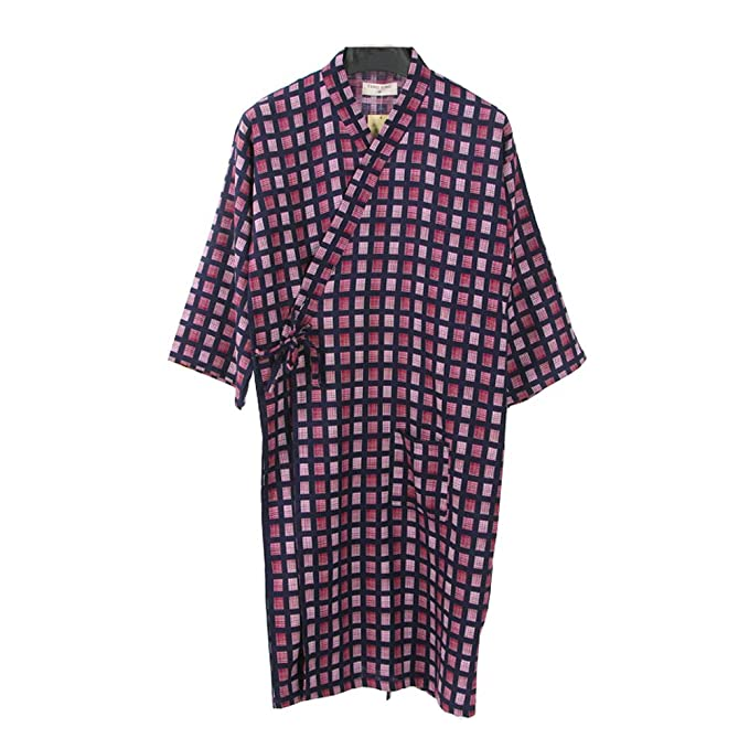 Fancy Pumpkin Kimono japonés Robe Long Yukata Pijamas-Talla L-Rojo