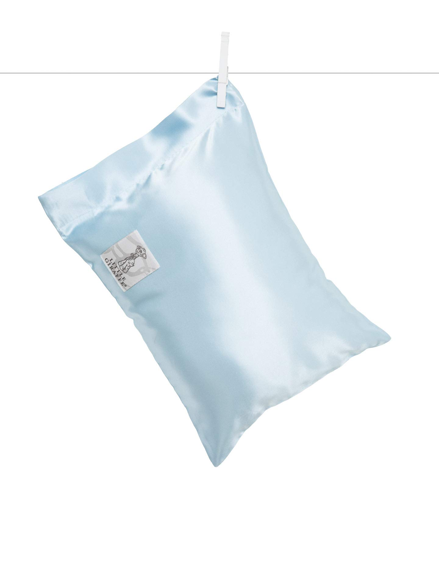 Little Giraffe Satin Nap Pillow, Blue, 10'' x 13''