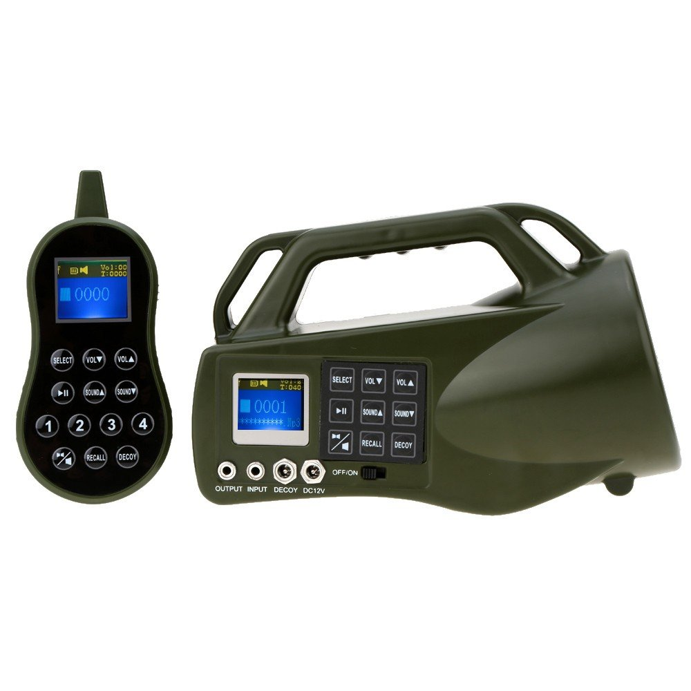 HKCYSEA Hunting Bait Caller 400 Songs Outdoor MP3 Player LCD Screen Loud Speaker With Wireless Remote Control Wildlife Decoy Game Predator