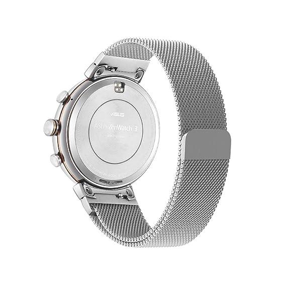 VICARA Asus ZenWatch 3 Banda, Milanese Loop Correa de reloj banda reemplazo pulsera hombres mujeres de liberación rápida para Asus reloj banda de ...
