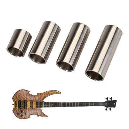 allcaca 4pcs guitarra Slide Set Acero Inoxidable Guitarra ...