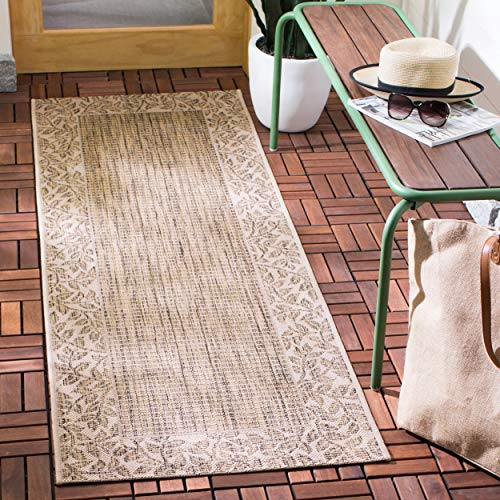 Safavieh Courtyard Collection CY0727-3009 Brown and Natural Indoor/ Outdoor Runner (2'3