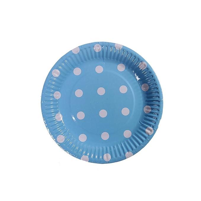 Amazon.com: 7 inch cumpleaños platos de papel desechables ...