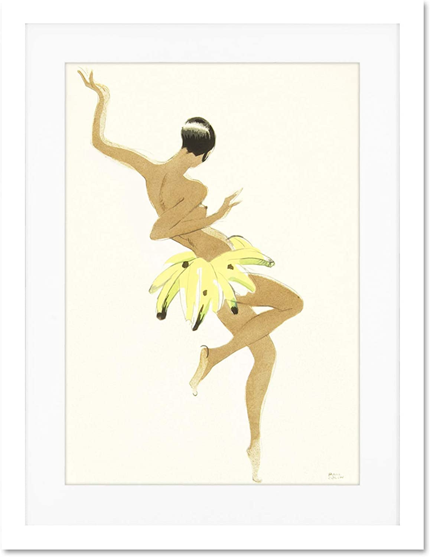 Painting Portrait Dancer Josephine Baker Creole Large Art Print Poster Wall Decor 18x24 inch Supplied Ready To Hang With Included Mount Brackets La peinture Danseur Grand Art Affiche mur D/éco