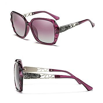 Z&YQ Gafas de sol polarizadas señoras marea gran caja elegante gafas de sol gafas personalizadas viaje