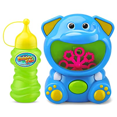 iPlay, iLearn Kids Fun Bubble Toys, Bubble Maker Machine, Play Shooter, Blower w/ Solution, Easy Blaster, Party Favors, Outdoors, Birthday Gifts for 3, 4, 5, 6 Year Olds, Boys, Girls, Toddlers: Toys & Games