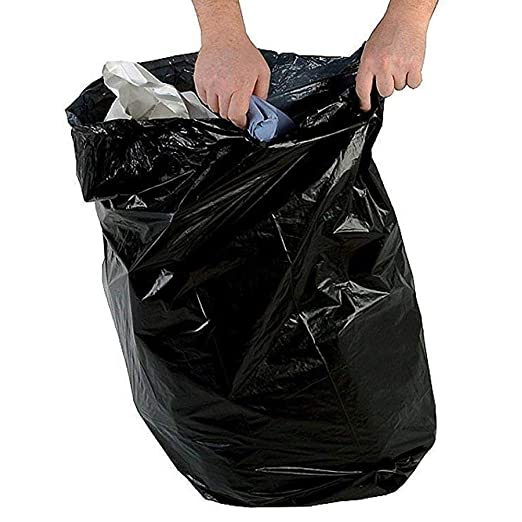 Bolsas de basura negras - 45cm x 98cm + 28cm - Extra ...