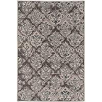 Linon Vintage Collection Clara Synthetic Rugs, 2 x 3, Gray
