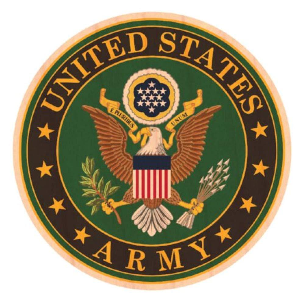 Army Crest Wooden Sticker WoodSticker Mitchell Proffitt U.S