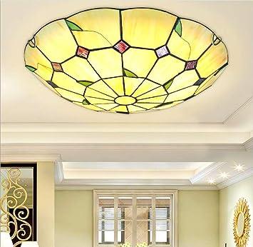 HAGDS Tiffany Style Deckenlampe Mediterrane Schlafzimmer Decke Retro  Einfach LED Wohnzimmer Deckenlampe Korridor Balkon Schlafzimmer Lampe