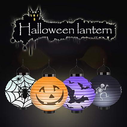 amazon com yipbowpt 4 packs halloween lanterns jack o lanterns