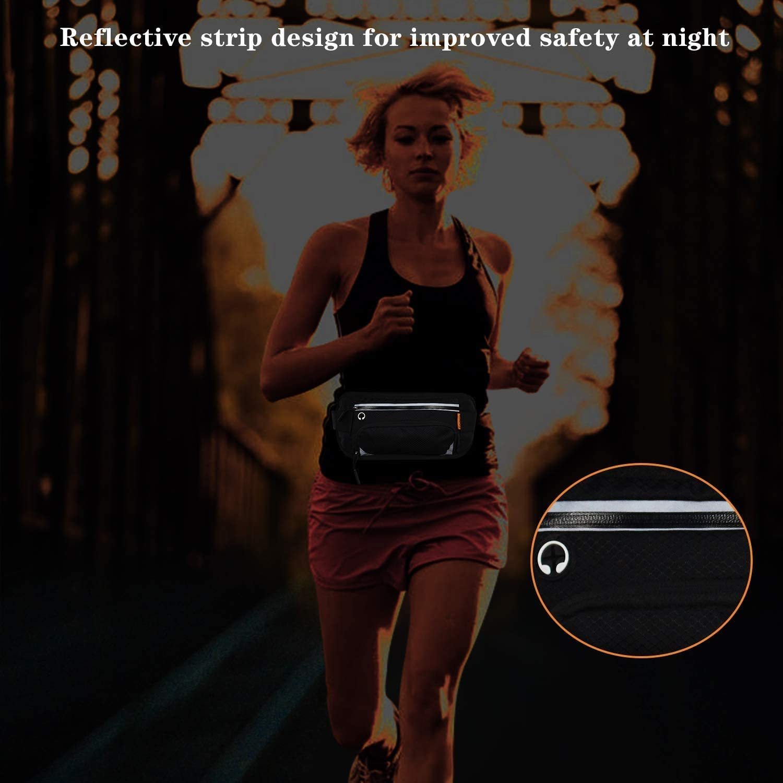 Sport Waist Pack for Jogging Waterproof Adjustable Straps Waist Bag Hold Cards Smartphone Bottle Holder Fit for Outdoor Hiking Cycling Running ACADGQ Running Belt Fanny Pack