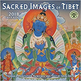sacred images of tibet 2018 wall calendar thangka meditation paintings