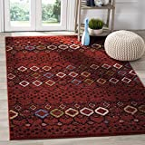 Cheap Safavieh Amsterdam Collection AMS108D Southwestern Bohemian Terracotta and Multi Area Rug (4′ x 6′)