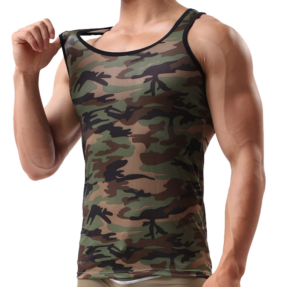 Men Army Military Tank Tops Low Cut Camouflage Singlets Bodybuilding Undershirt Batedan C-Batedan-238