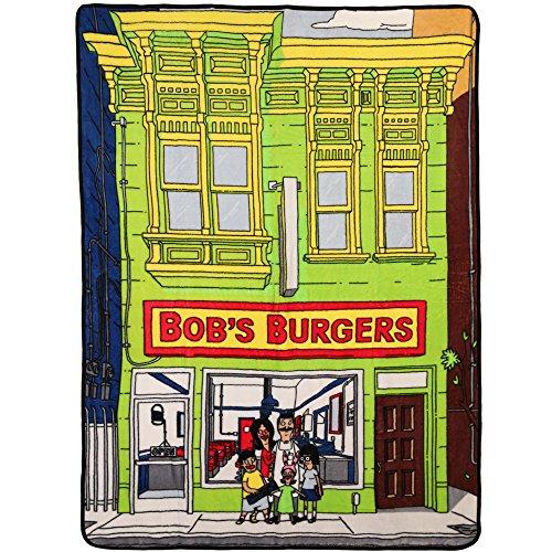 amazon com bob s burgers storefront fleece throw blanket 45 x 60
