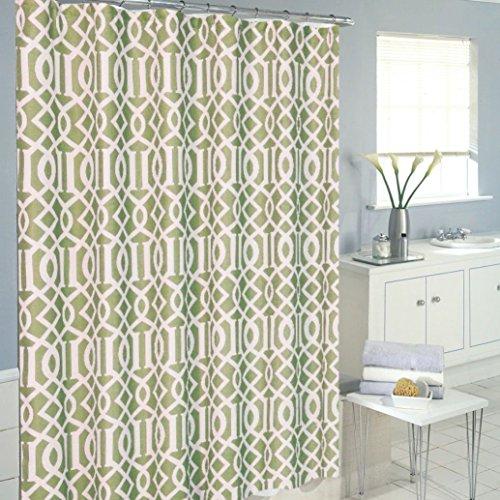 sage green shower curtain - 3