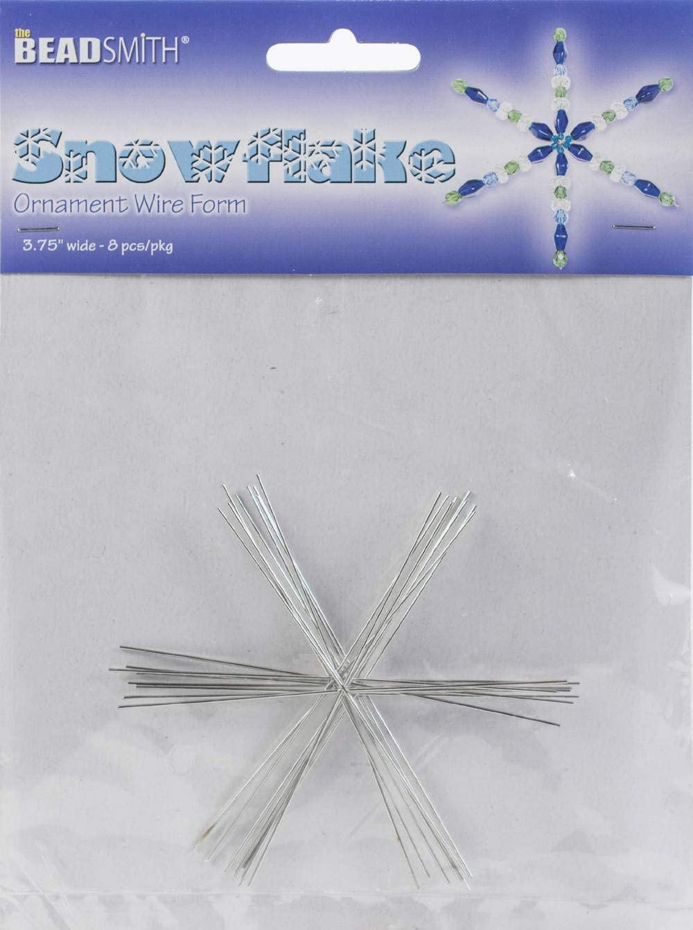8 Snowflake Ornament 3.75 Inch Metal Wire Forms Just Add Beads