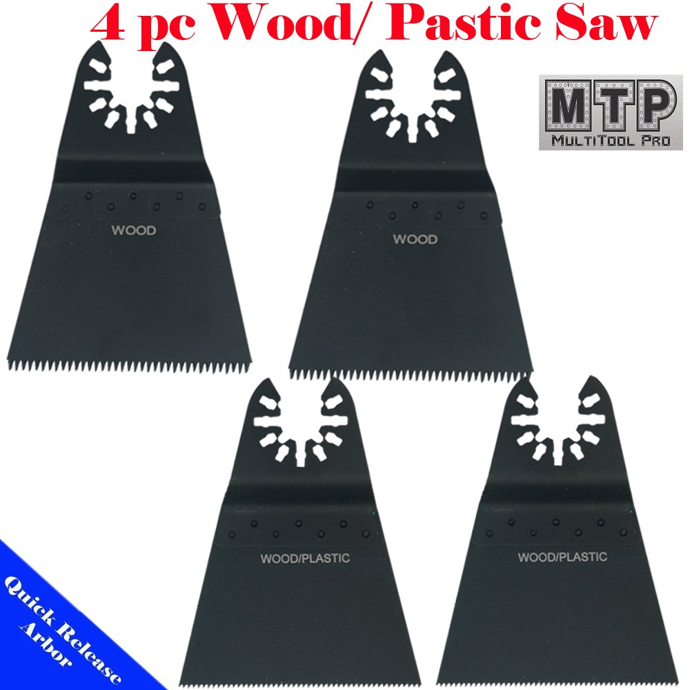 MTP Tm 4 Japan Fine Wood Blade Quick Release Universal Fit Multi Tool Oscillating Multitool Saw Blade for Craftsman 20v Bolt-on Mm20 Rockwell Hyperlock Shopseies Fein Multimaster Porter Cable Black and Decker Bosch Milwaukee Makita Chicago Blue Hawk