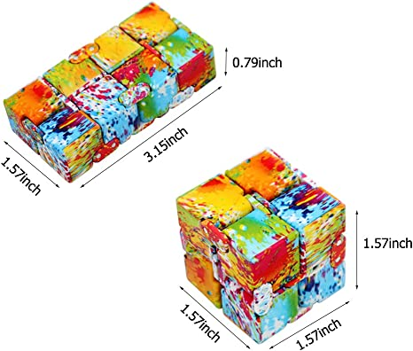 Hillento Cube Infinity Fidget Cube Jouet pour Adultes et Enfants soulager Le Stress et l'anxiété Cool Main Fidget Stress Jouet, Tuer Le Temps Fidget