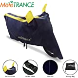 Mototrance Sporty Arc Blue Yellow Bike Body Cover for Universal Universal