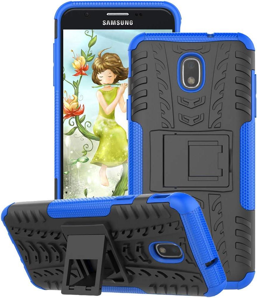 Case for Samsung Galaxy J3 2018, Galaxy J3 Achieve, Galaxy Amp Prime 3, Galaxy J3V / J3 V 2018, Galaxy Express Prime 3, Galaxy J3 Star, Sol 3, J3 Orbit, J3 Aura, GSDCB Phone Case with Kickstand (Blue)