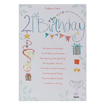 Hallmark 21st Birthday Card For Him Luck And Success