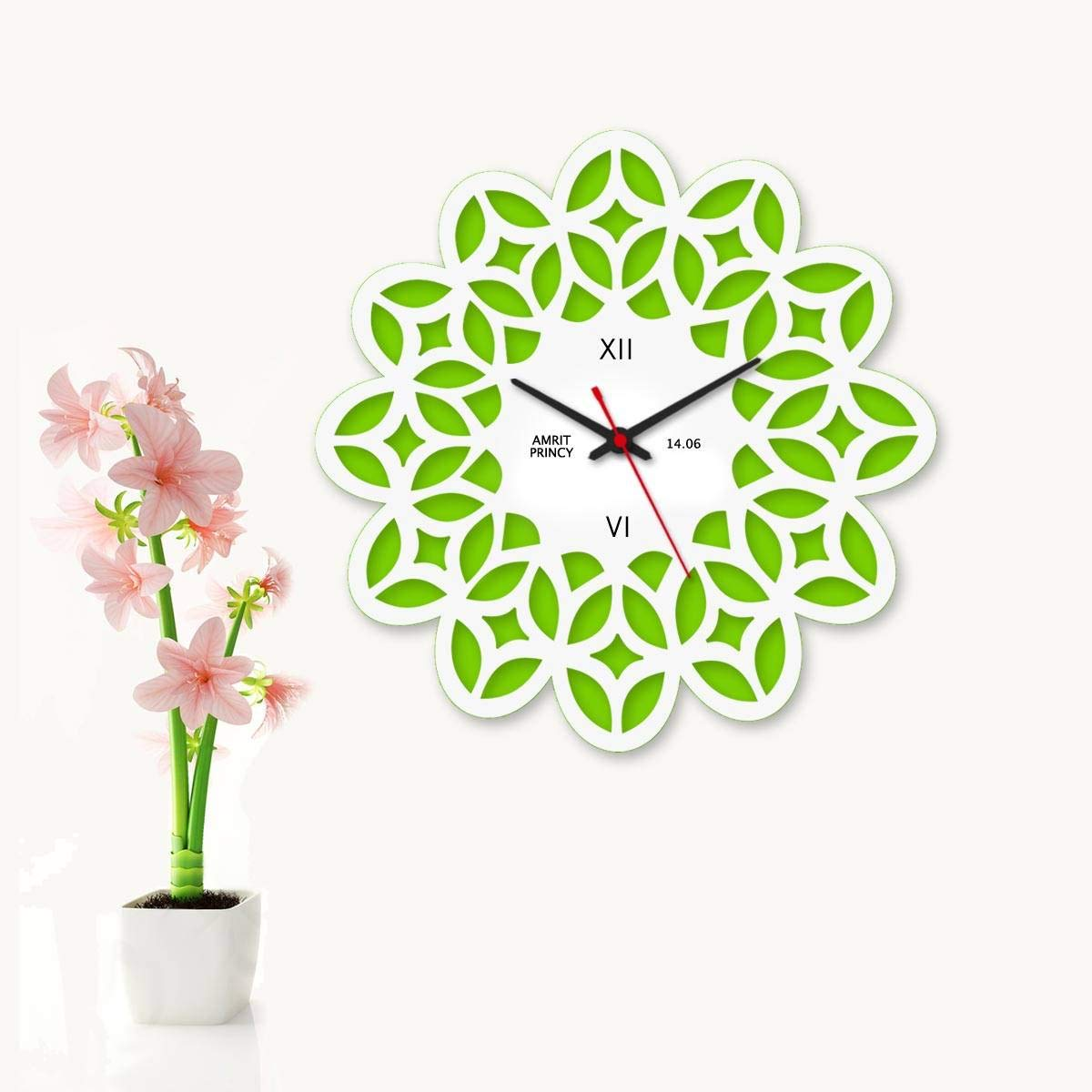 Buy Dezains Designer Wall Clocks For Living Room And Bedroom Unique Fancy And Personalized Flower Pattern Online At Low Prices In India Amazon In