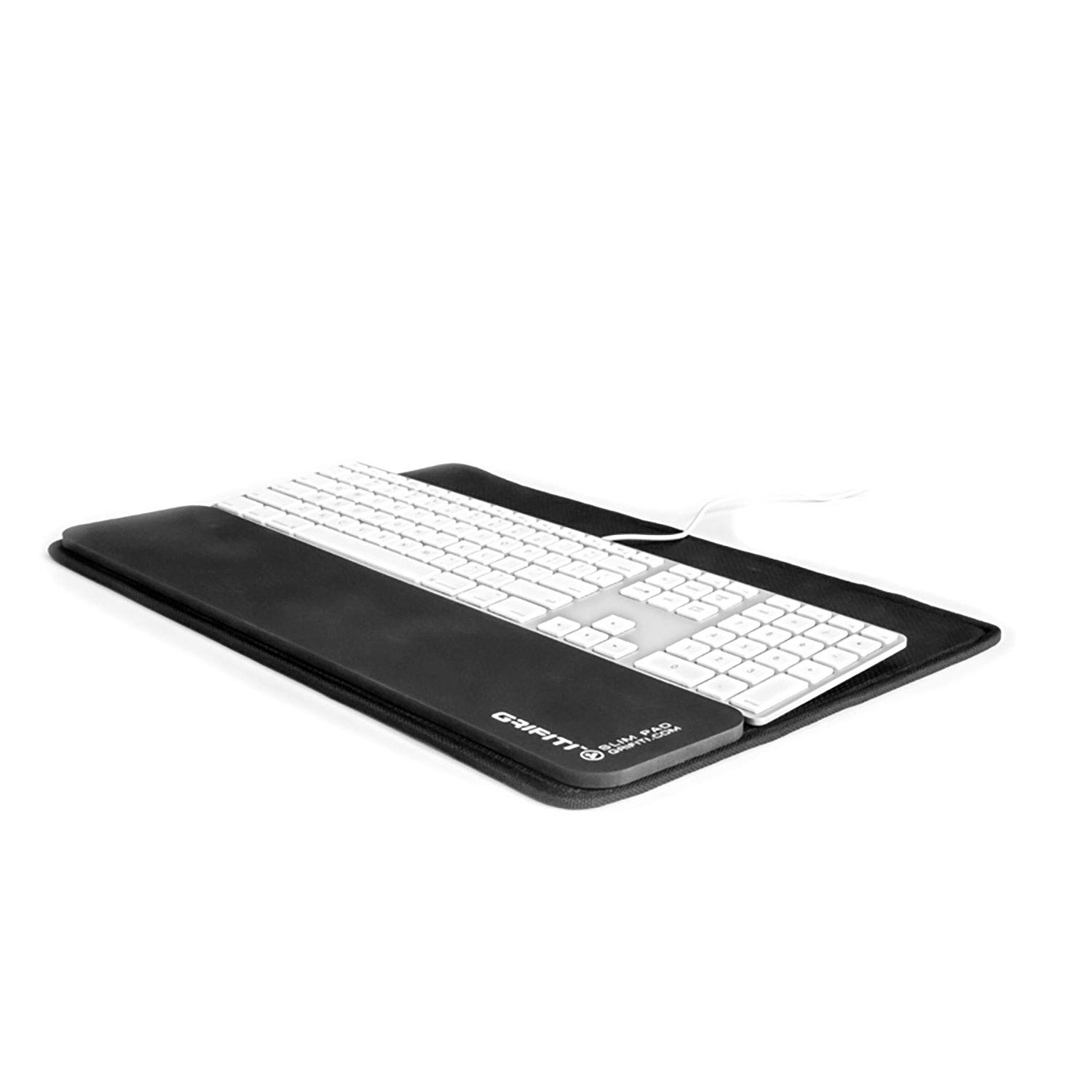 GRIFITI Platform Slim Wrist Pad 17 Home Office Deck 17 Keyboard Platform and Slim Wrist Pad 17 Wrist Rest for 17 Inch Slim Keyboards