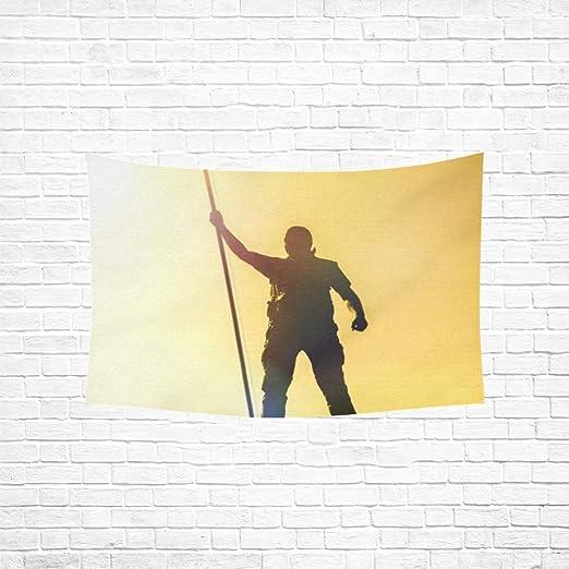 Tapiz Silueta Hombre Sosteniéndonos Bandera Tapices Americanos ...