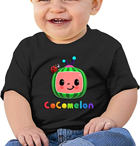 Cute Art Short-Sleeved Style Unique Cocomelon Baby T-Shirt