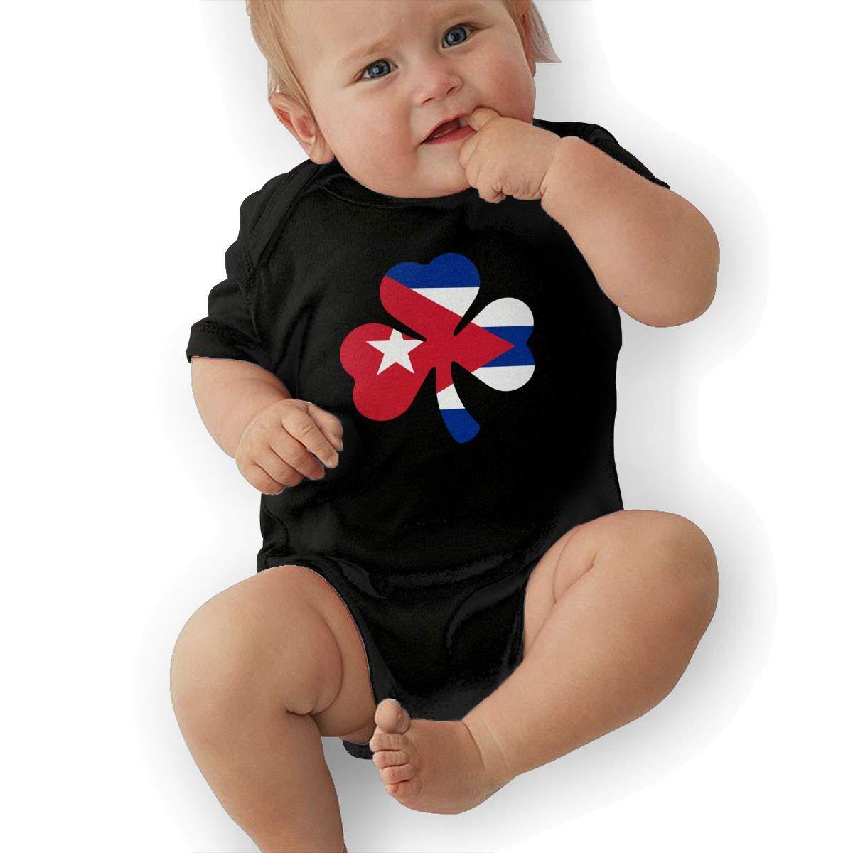 Suit 6-24 Months Black TAOHJS97 Newborn Cuba Flag Shamrock Short Sleeve Climbing Clothes Bodysuits