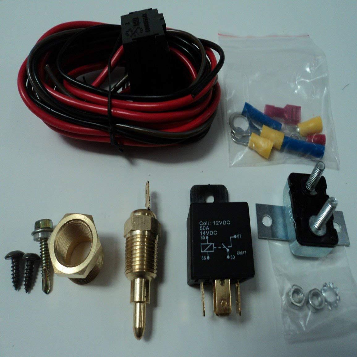 Temp/érature universelle Commutateur moteur Capteur Radiateur Thermostat 50A Relais Kits sur 185 /° et hors /à 170 /°