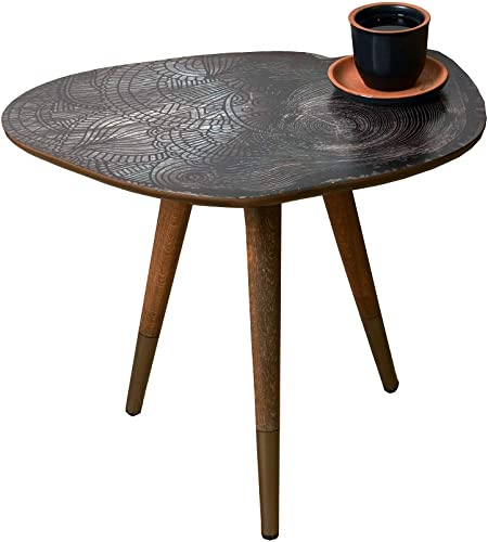 VHD Mandala Design Round Side Table End Table Accent Coffee Table Sofa Table Small Table